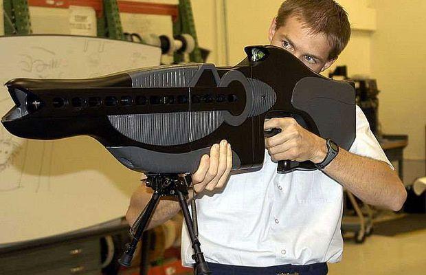 PHASR— персональная винтовка останавливающего ираздражающего воздействия создана Министерством обороны США. Это лазерное оружие нелетального воздействия создано для временного ослепления целей.