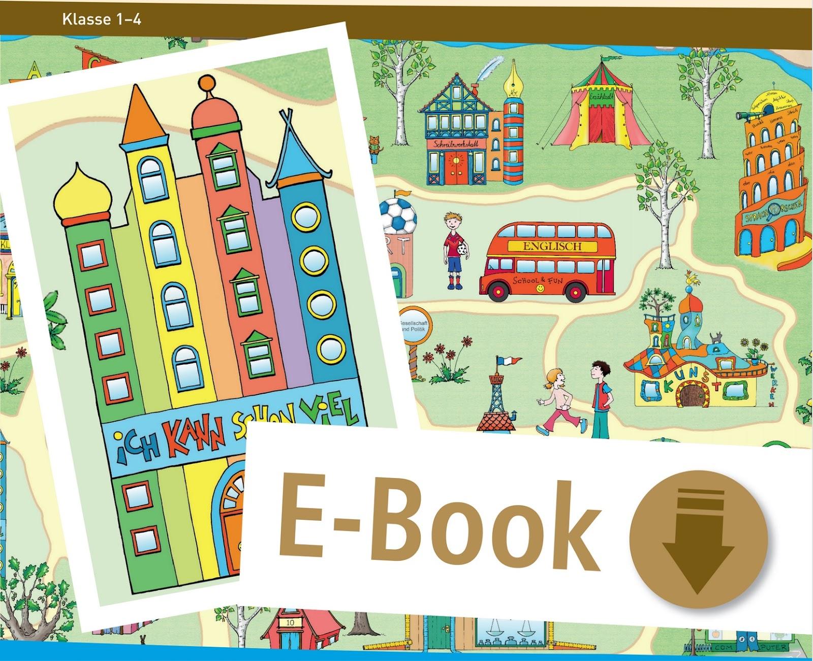 """[alt: Das Cover des eBooks """"Das Lerndorf"""" über die Kompetenzentwicklung in der Grundschule.]"""