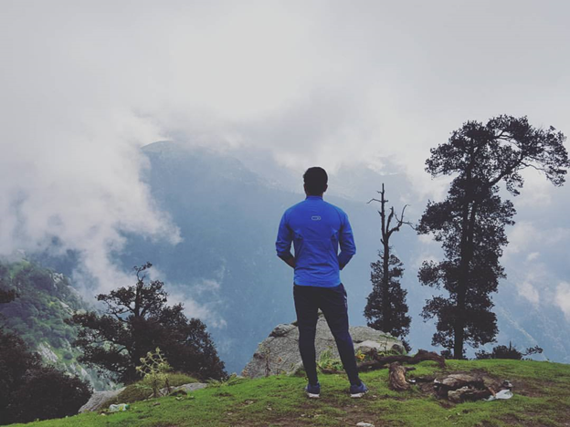 On top to Triund Trek