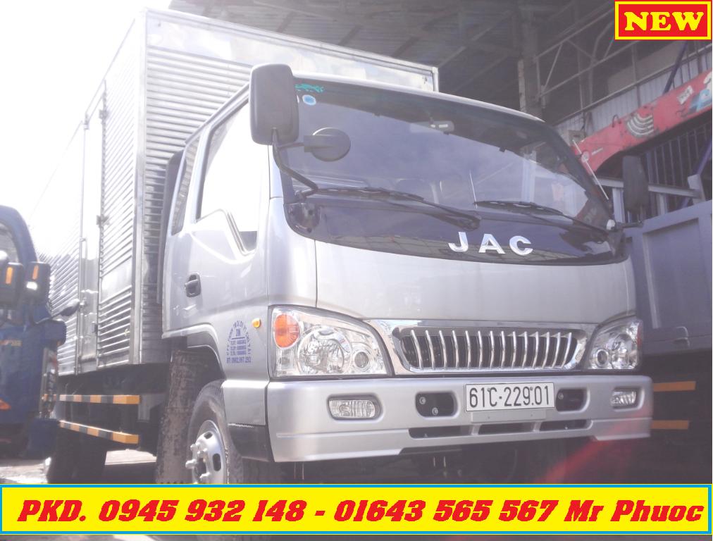 xe tai JAC 64 tan xe JAC 6T4 thung mui bat 2016 xe tai JAC 6 tan xe tai JAC 6 tan tang truoc ba