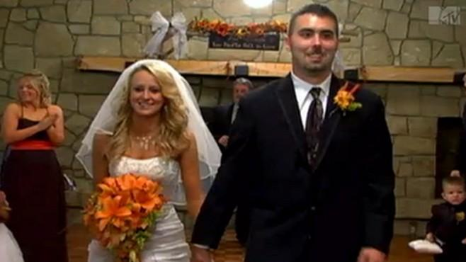 Leah Messer and her ex husband Corey Simms on their wedding