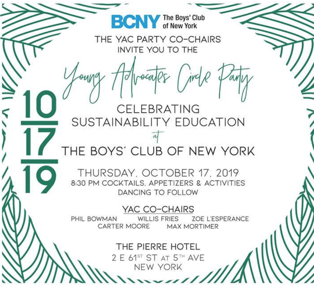 NYSD  The brilliant Chairs of the Boys' Club New York 71st Annual Fall Dance have created a decidedly different yet dedicated dress directive for this year's anticipated celebration.