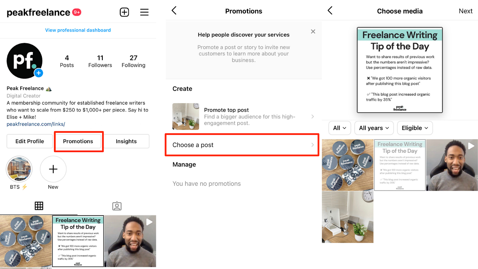 how to use instagram ads manager to boost a post