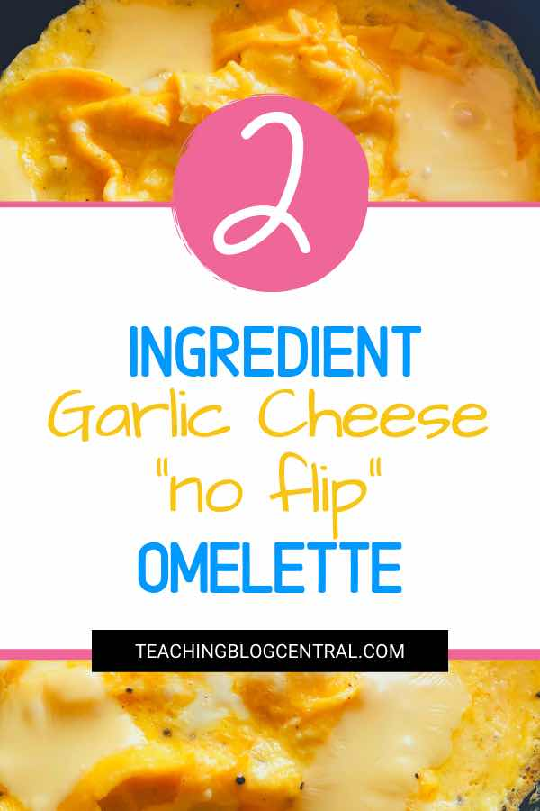 The easiest 2 ingredient Garlic Cheese Omelette you'll ever make! I know because I'm lazy and I hate to cook but this one is so simple, requires less dishes and is practically done in minutes.