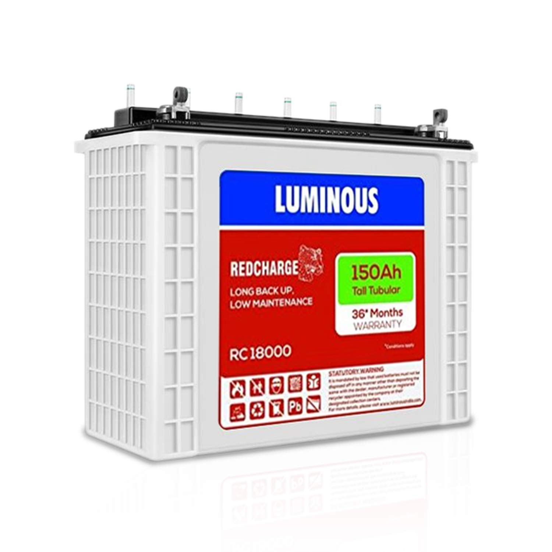 Luminous RC 18000 150 AH Tall Tubular Inverter Battery