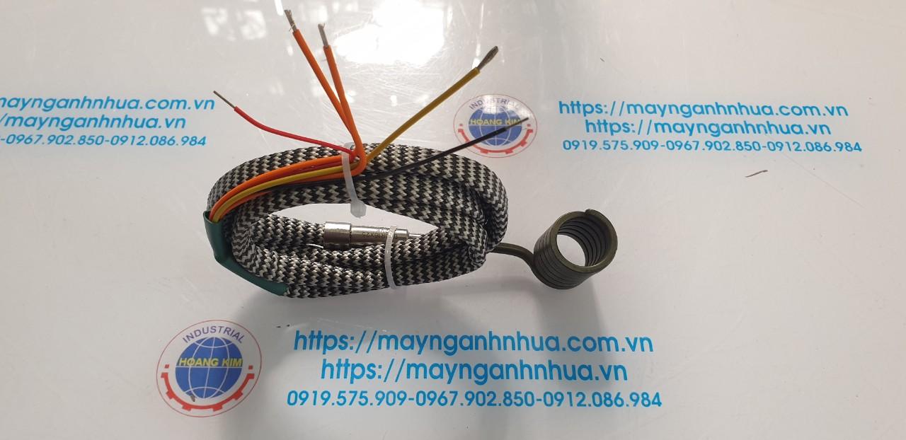 Điện trở lò xo đầu khuôn, máy ép nhựa phi 14 dài 150mm