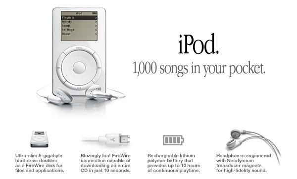 iPod - Product Descriptions Example