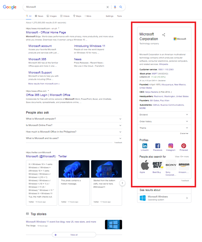 Build Google Knowledge Panel Using Press Releases 3