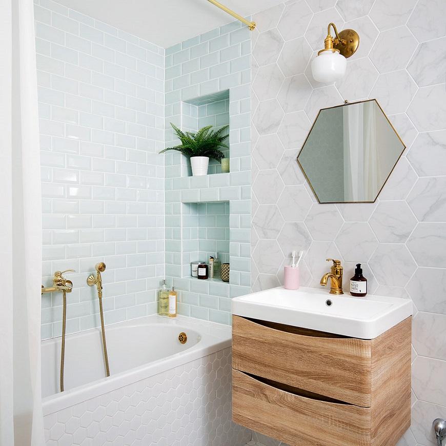 Sắp xếp không gian phòng tắm hợp lý