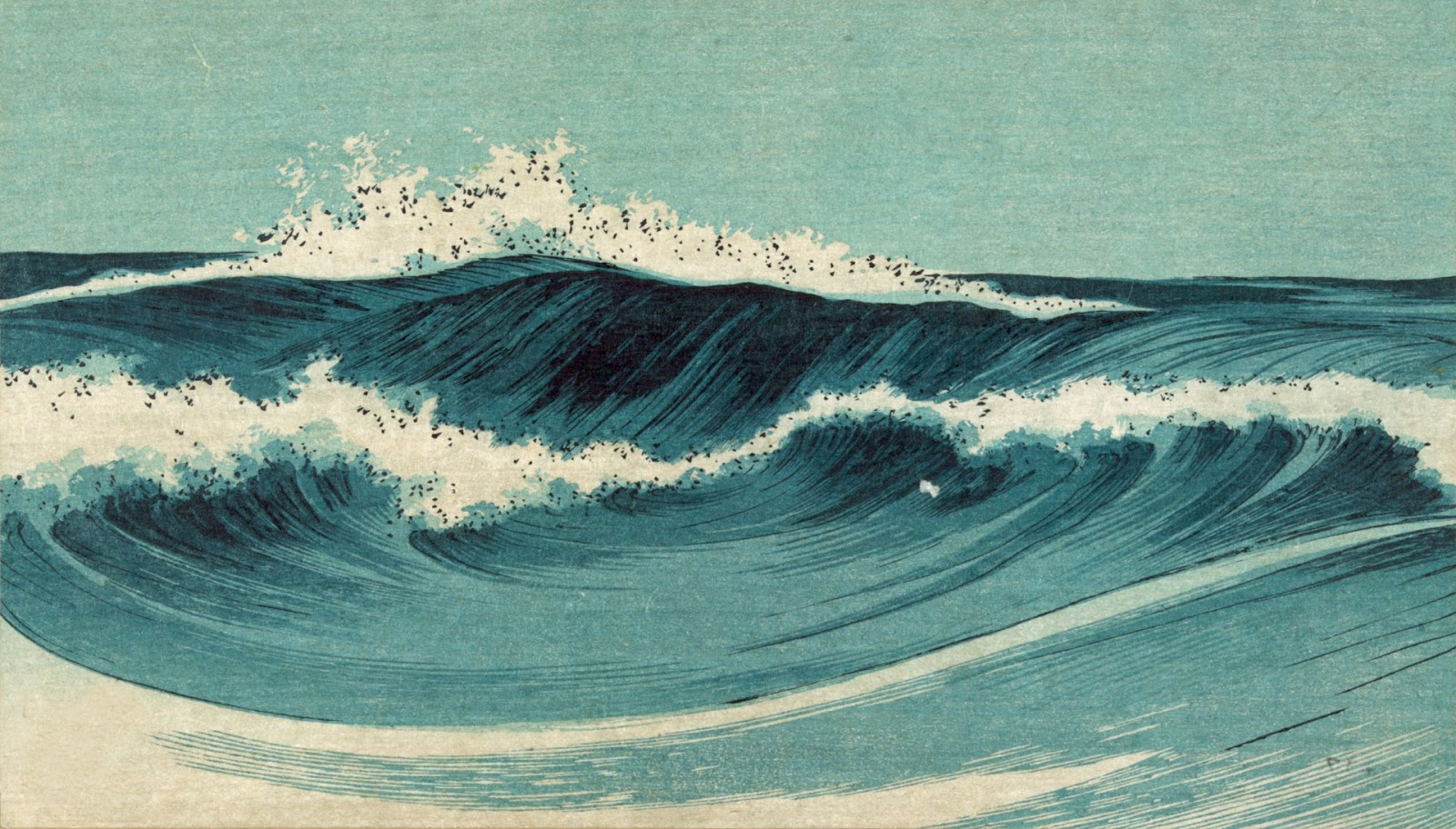Japanese Waves Painting