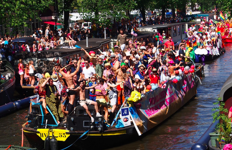 gay pride amsterdam parking