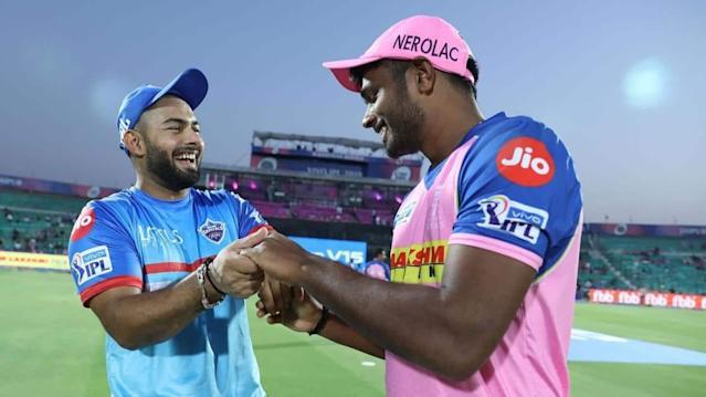 Rishabh Pant (DC) & Sanju Samson (RR) during IPL 2020