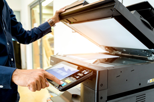 View Small business using copier features & pages per minute multifunction printing