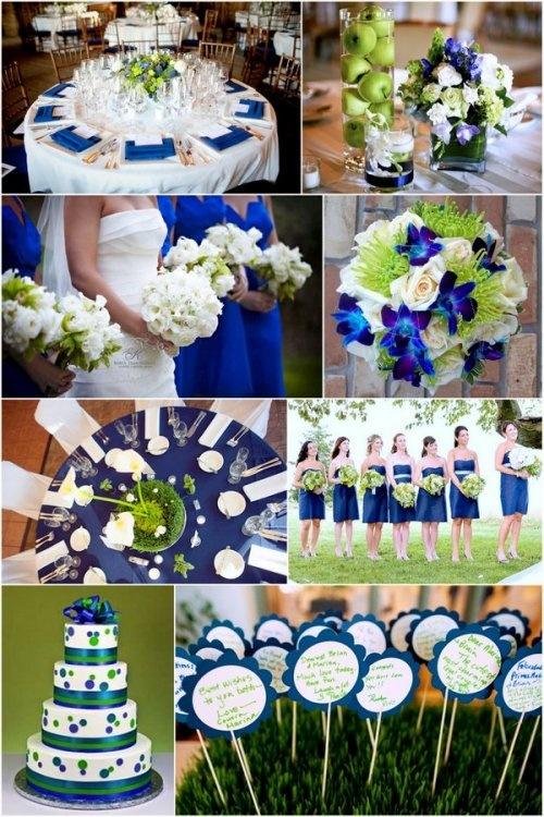Синие акценты на свадьбе