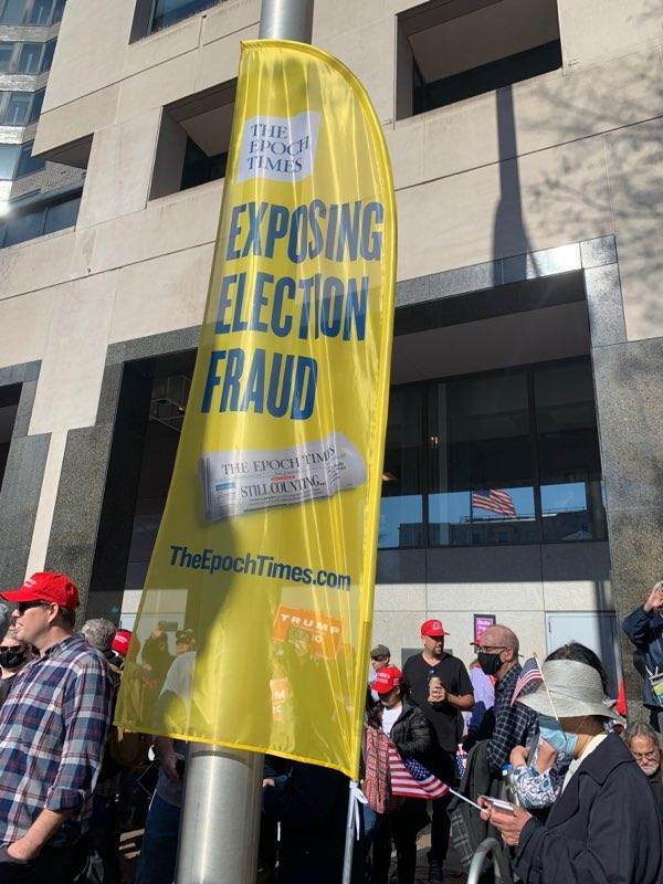Epoch Times banner DC rally