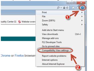 Run The Internet Explorer in Compatibility View