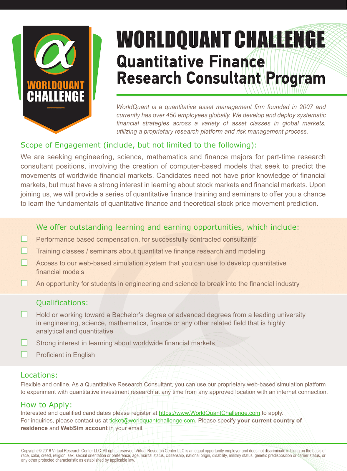 NHVL] WorldQuant Challenge - Quantitative Finanace & Research
