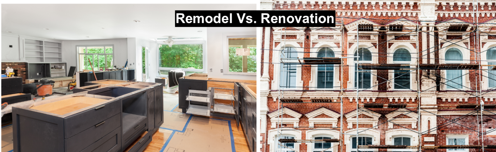 remodel vs. renovation