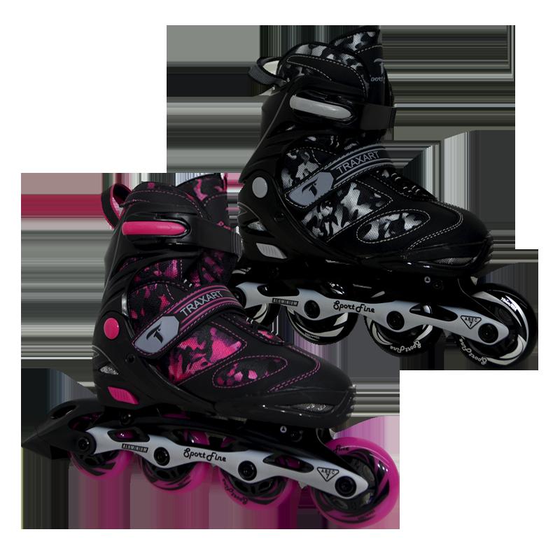 O Sport Fine é um modelo Inline fabricado com base em alumínio e com rolamentos ABEC-7, que permitem ao patins desenvolver mais velocidade. Assim como toda a linha infanto-juvenil estes patins também contam com regulagem, além de possuir freio.