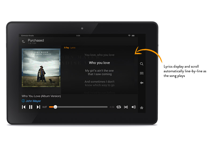 Amazon Rolls Out New Kindle HDX With X-Ray For Music