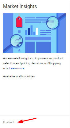 Google shopping market insights