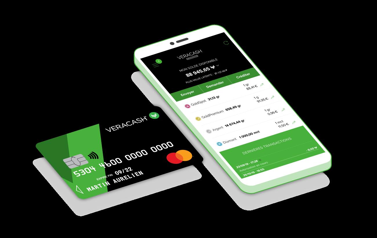 appli et carte de crédit veracash