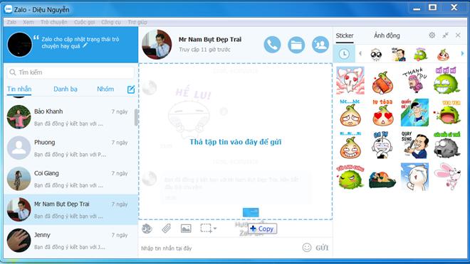 Zalo giúp mọi người có thể trò chuyện và trao đổi thông tin với nhau