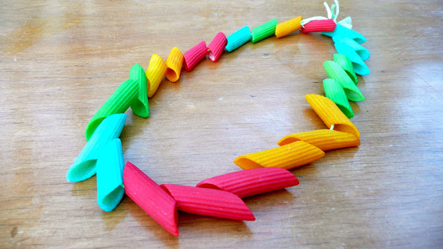 Painted Pasta Necklace
