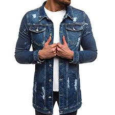 Image result for jean jacket plain for men with white tee