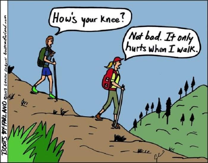 Hiking Meme, hiking joke, funny hiking quote