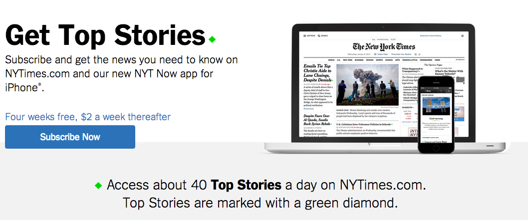 nytimes online subscription
