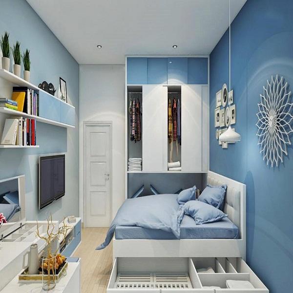 Màu xanh nhạt tạo cảm giác mát mẻ, thư giãn, hợp với gia chủ mệnh Thủy