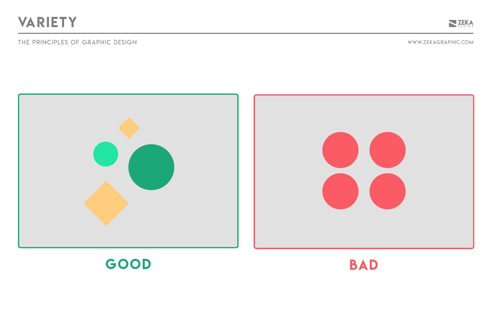 Nguyên tắc đa dạng trong thiết kế đồ họa