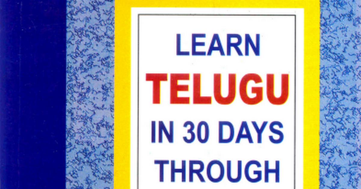 Learn Telugu In 30 Days Through English Pdf Google Drive