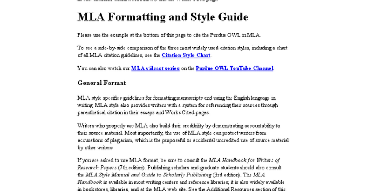 Purdue Owl Mla Formatting Full Resource Google Docs
