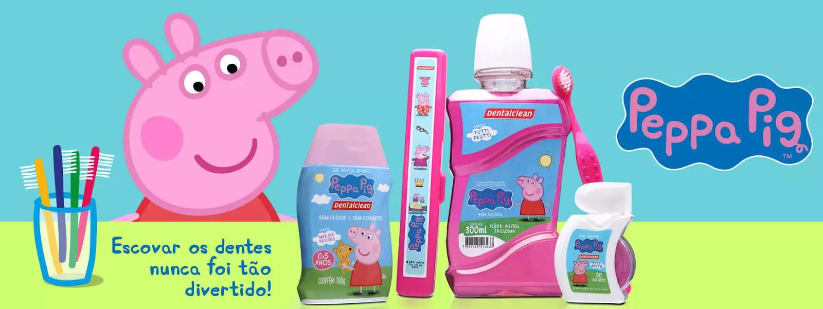 Escova de dente infantil peppa pig