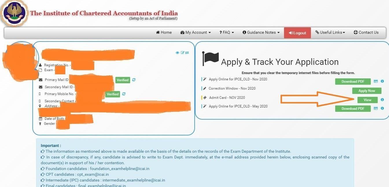 CA Jan 2021 Exams | Admit Cards are out | Have you downloaded it yet?? 4