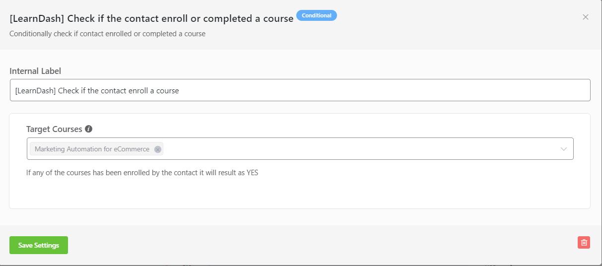 learndash student enrollment conditional