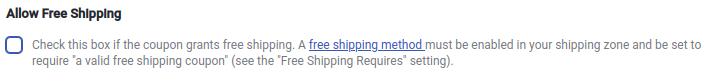 Allow Free Shipping