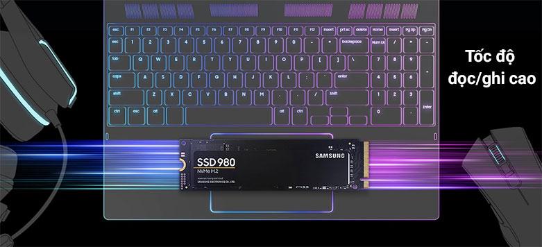 Ổ cứng gắn trong/ SSD Samsung 980 1TB M2 NVMe (MZ-V8V1T0BW)   Tốc độc đọc/ghi cao