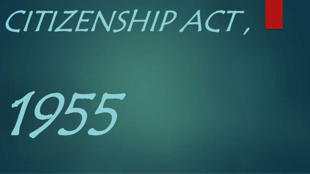 Image result for Citizenship Act, 1955