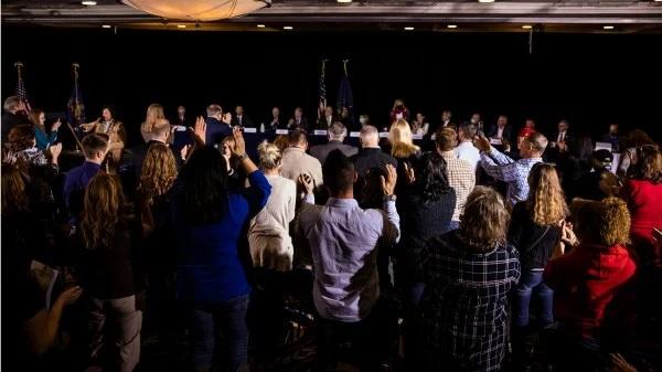 Ngày 25/11/2020, Thượng viện Pennsylvania đã tổ chức một phiên điều trần về gian lận bầu cử Mỹ. (Ảnh: Samuel Corum/ Getty Images)