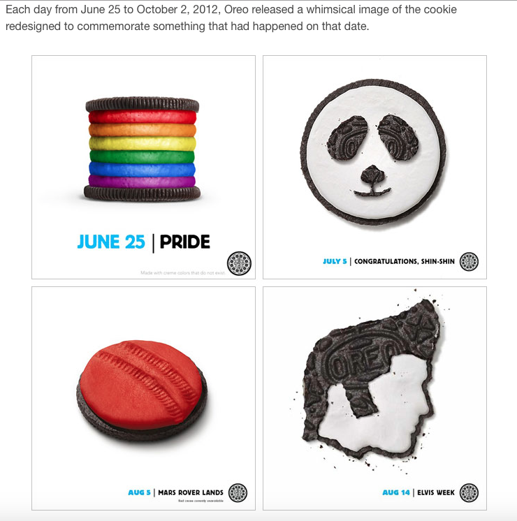 Example of a campaign from Oreo
