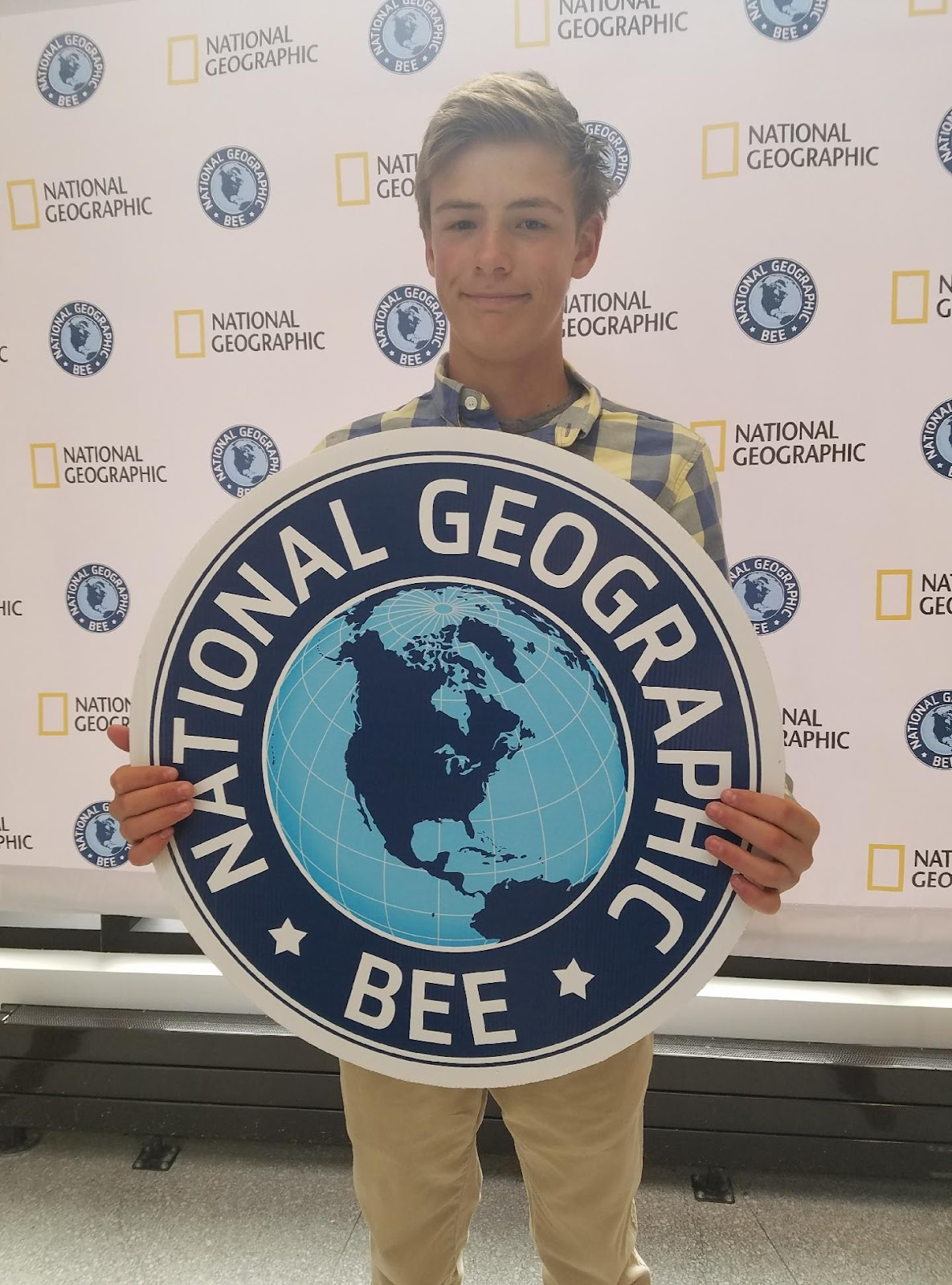 Alex Smith, qualifier for the National Geographic Bee