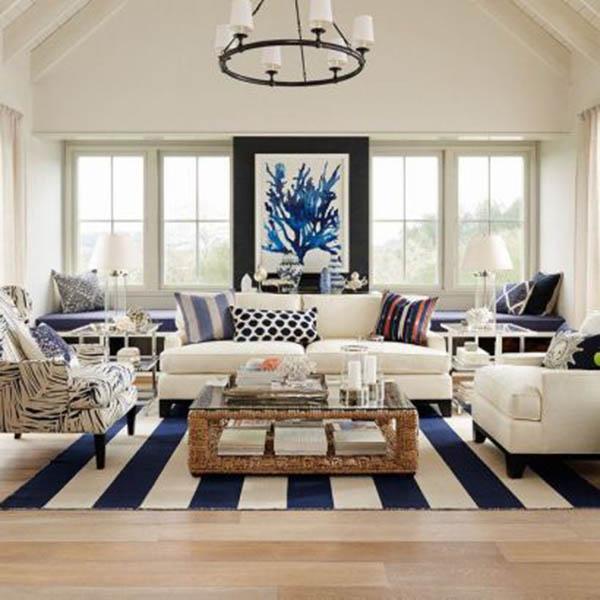 Nội thất chung cư theo phong cách xanh navy mang lại cho bạn sự bình yên