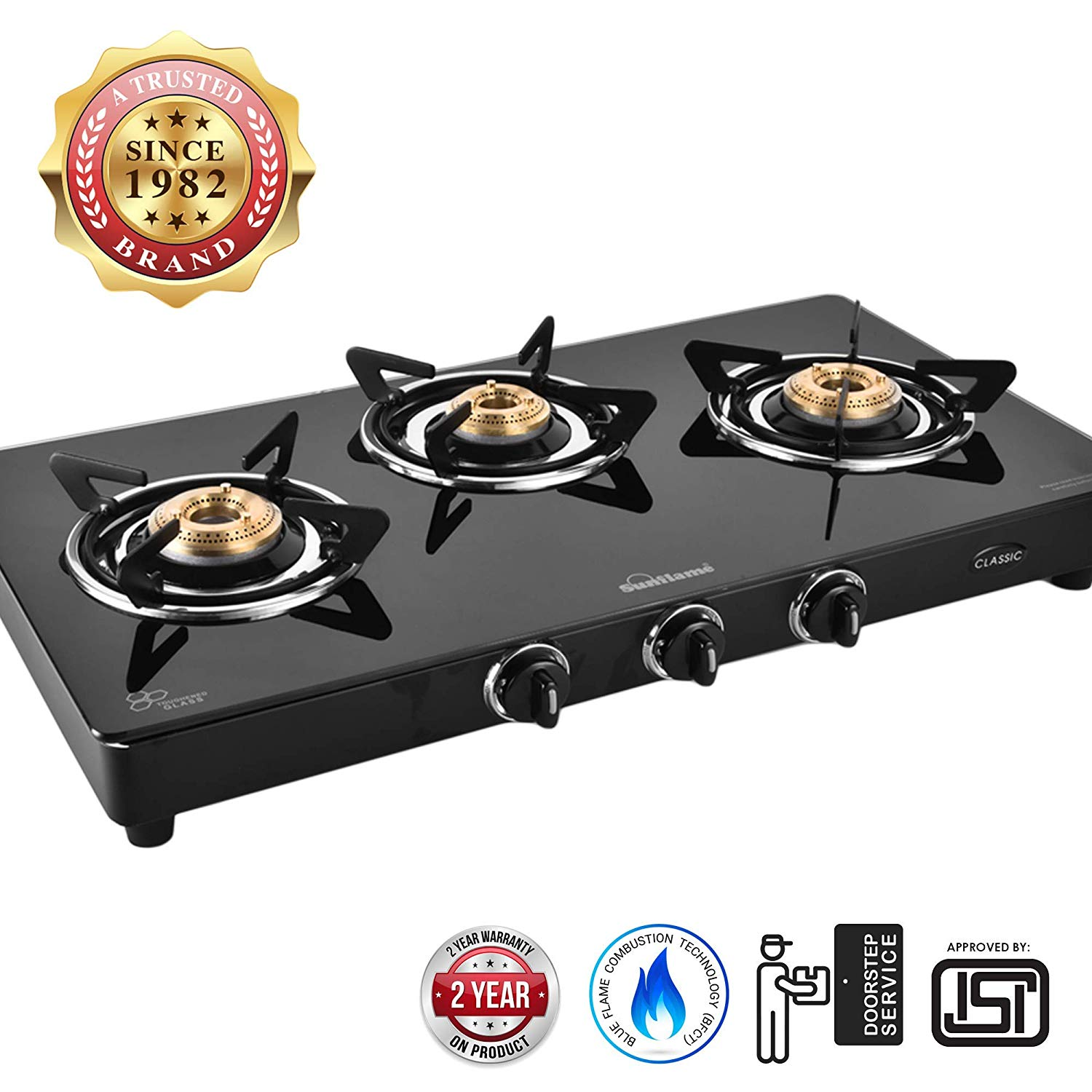Sunflame Classic 3B Burner Best Gas Stove
