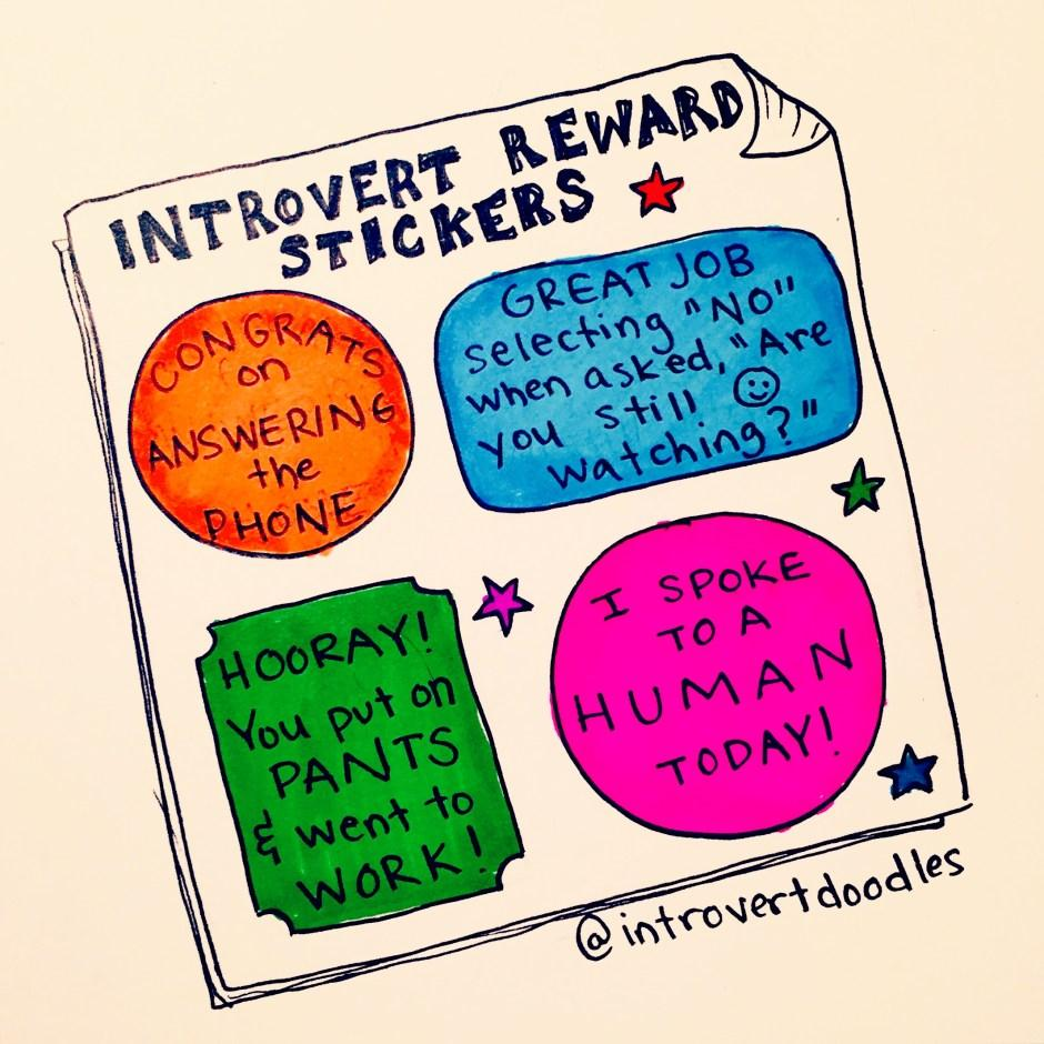 "Introverts, Anti-Social, People-Shy, Maureen ""Marzi"" Wilson, Comic Series, Introvert Doodles"