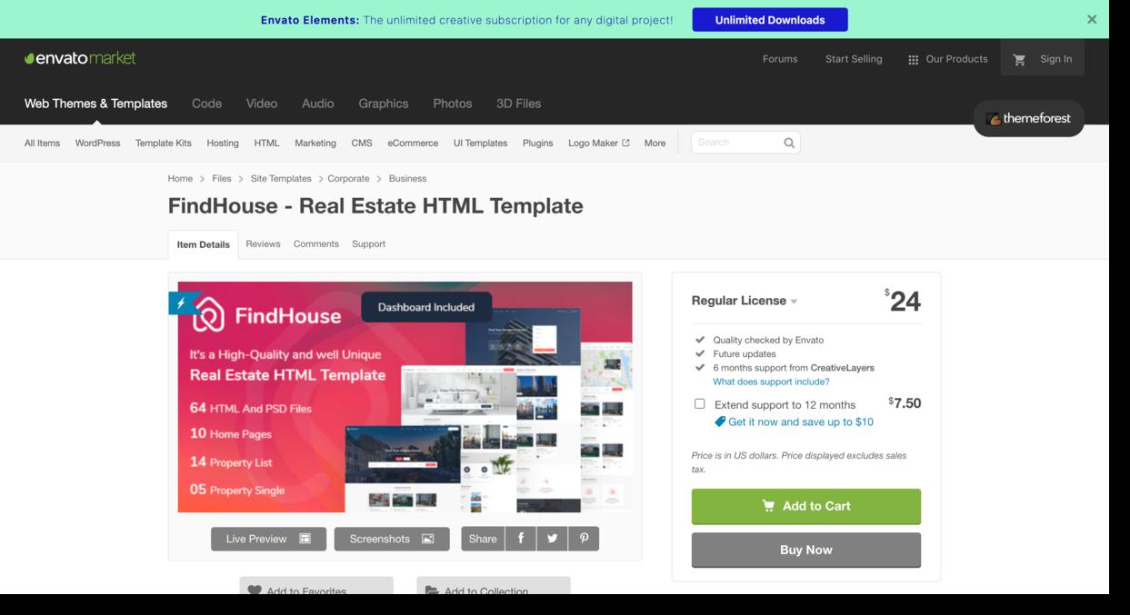 FindHouse template Real Estate Website Design