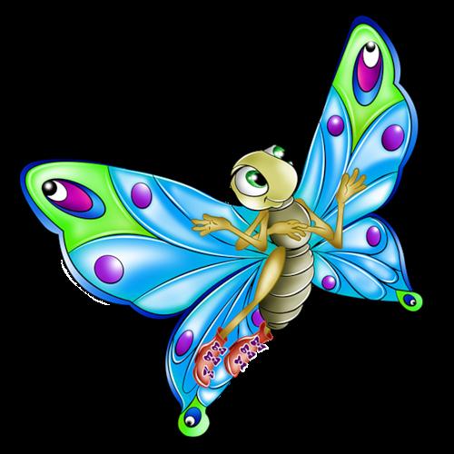 Клипарт бабочки с красивыми крыльями - Бабочки - Картинки PNG - Галерейка