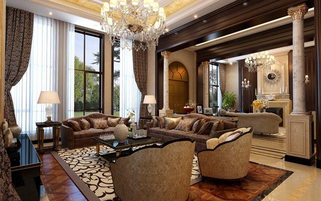 Phòng khách tân cổ điển mang vẻ đẹp tinh tế